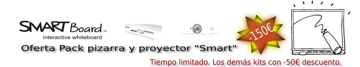 Ofertas Pack pizarras con proyector Smart V30 150 euros de descuento.